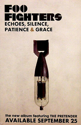 Foo Fighters ECHOES SILENCE Orig Music Poster 2'x3' Rare 2007 Mint