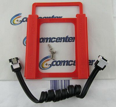 For 2.5 Solid State Driver SATA Cable and Plastic Bracket tray 2.5 to 3.5 Caddy