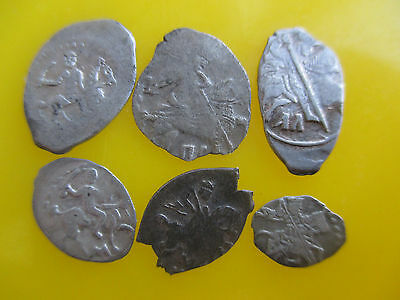 Russia dengа Different types, Ivan IV, Peter I, Lot of 6 coins