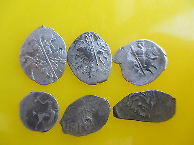 Russia dengа Different types, Ivan IV,  Mikhail, Lot of 6 coins