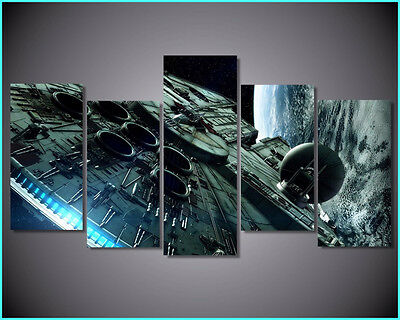 Star Wars Millennium Falcon 5 Piece Wall Art Modern Colourful Large Canvas