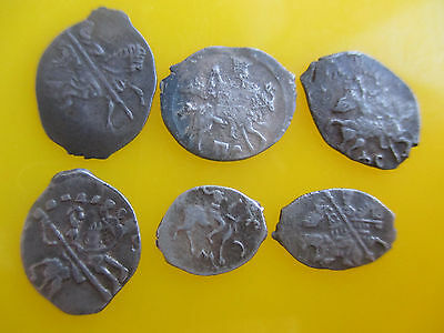 Russia dengа Different types, Ivan IV, Godunov, Lot of 6 coins