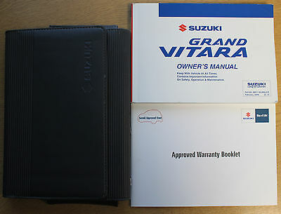 Suzuki Grand Vitara Owners Manual Handbook Wallet 2005-2009 Pack 13748