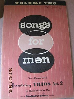 SONGS for MEN vol. 2 for Mixed Ensemble Singspiration1959 NM