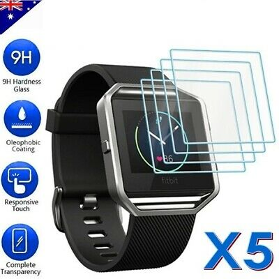 5x Tempered Glass Screen Protector Film Guard For Fitbit Blaze