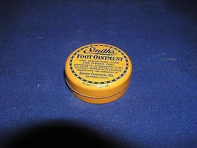 Smith's Foot Ointment Round Vintage Tin 3/4 oz.