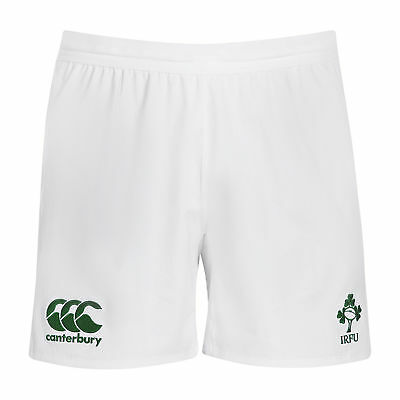 Canterbury Mens Gents Ireland Rugby VapoDri Home Shorts Bottoms - White