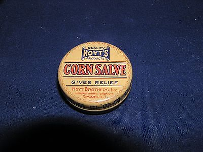 Vintage Hoyt's Small Round Tin of Corn Salve