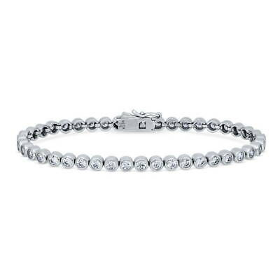 BERRICLE Sterling Silver Tennis Bracelet Made with Swarovski Zirconia