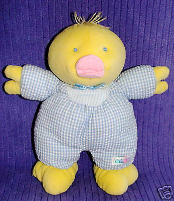 "Eden Gingham Duck Velour 10"" Inner Rattle ~ Bo13/co24"