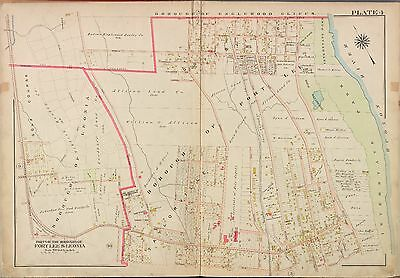 1913 G.w. Bromley Fort Lee Leonia Bergen County New Jersey Atlas Map Copy