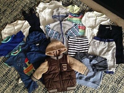 Huge Baby Boy Clothes Bundle 17 Items 6-9 Months including 2 coats