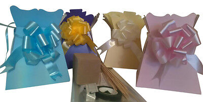 2 Chocolate bouquet kits choice of colors inc cellophane& pull bow complete kit