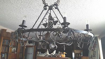 Spanish revival Wrought Iron CHANDELIER light fixture