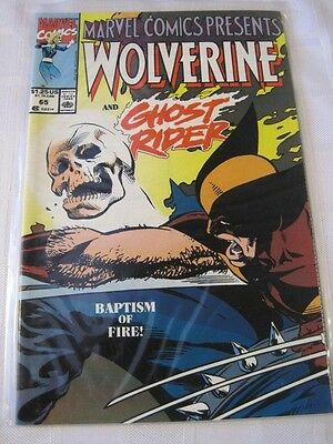 WOLVERINE & GHOST RIDER  Marvel Comic Baptism of Fire No. 65 1990  NM