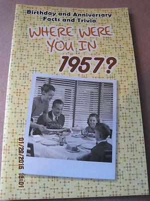 WHERE WERE YOU IN 1957 ? Birthday & Anniversary Facts & Trivia Greeting Card NM