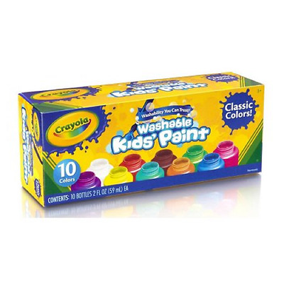 Crayola Washable Kids' Paint, 10-Count