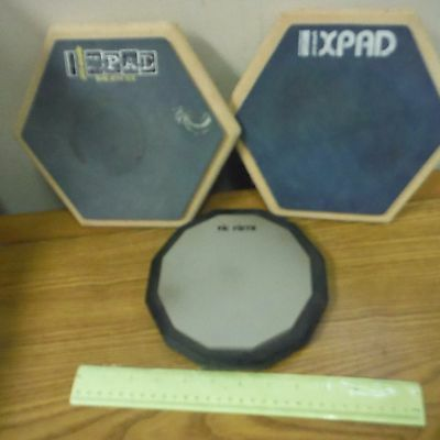 VIC FIRTH/PRO-MARK Single Sided Drum Practice Pads 3/LOT! XPAD, 6 & 12 Sides