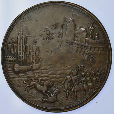 England - 1744 Action off Toulon Medal Eimer 582