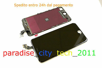 """LCD + TOUCH SCREEN VETRO SCHERMO Display + Frame + TOOLS per iPhone 6 4.7"""" NERO"""