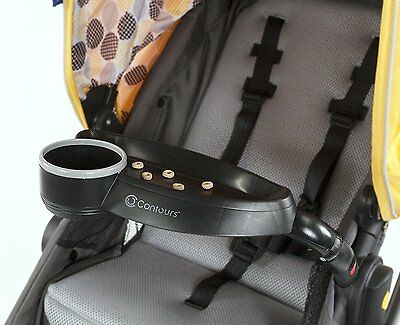 Contours Child Tray, Black,Swivel attachment for quick in & out of stroller seat