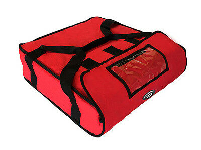 """Pizza Delivery Hot Bag (Holds up to Two 16"""" or Two 18"""" Pizzas) RED"""