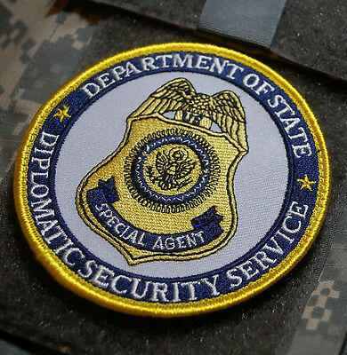 PRIVATE SECURITY CONTRACTOR AGENT burdock INSIGNIA: Diplomatic Security Services