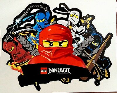 Lego Ninja go  -  Vinyl Decal/Sticker 20.5cm X 16cm.