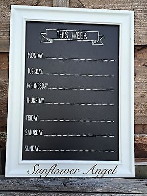 Shabby Chic, Message, memory Board, chalk board, 7 days of the week. 2 colours