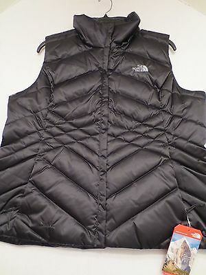 The North Face ACONCAGUA 550 DOWN VEST TNF BLACK Womens SIZE XL NWT