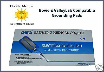 ValleyLab Compatible Electrosurgical Grounding Pads - Box of 50