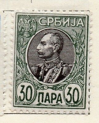 Serbia 1905 Early Issue Fine Mint Hinged 30p. 128156