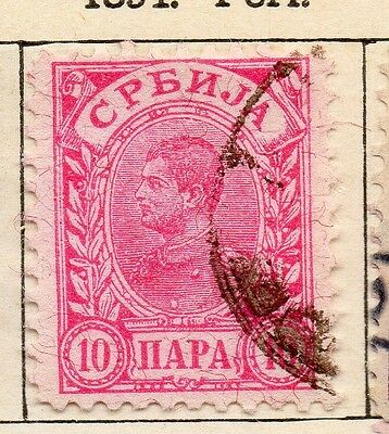 Serbia 1894 Early Issue Fine Used 10p. 128181