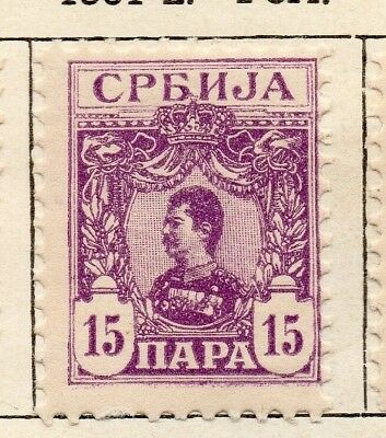 Serbia 1901-02 Early Issue Fine Mint Hinged 15p. 128193