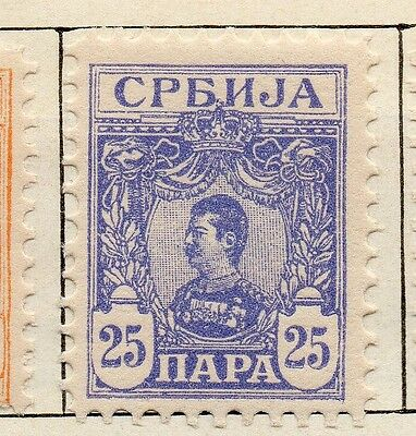 Serbia 1901-02 Early Issue Fine Mint Hinged 25p. 128195