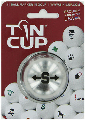 Tin Cup. Golf Ball Marker System. Alpha Players Letter S