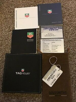 Tag Heuer Guarantee Card + Booklet