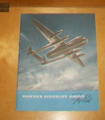 Hawker Siddeley Group Fly Past Product Catalogue Aw650 Cf-100 Hunter Vulcan