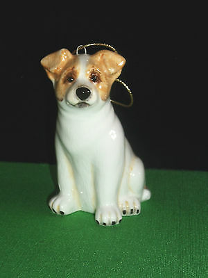 Jack Russell Terrier Ceramic Dog Ornament by Big Sky Carvers Retired Line