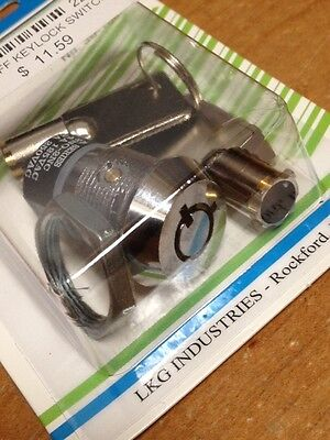 Round Lock DPST Key Switch - Key Pull, On/Off Position - Philmore 30-10077