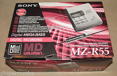 Sony MZ-R55 Personal Mini Disc Player. Complete & Boxed In Excellent Condition