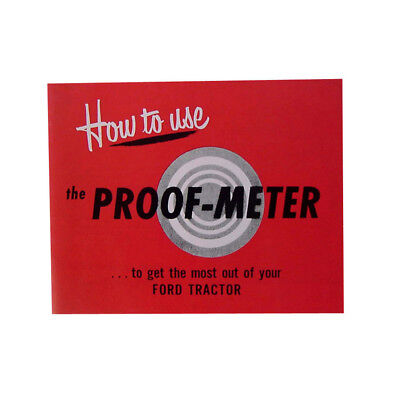 48FTPM Tractor Proofmeter Guide for Ford Tractor 8N 1951 - 1952 Proof Meter