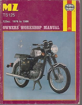 Mz Ts125 Alpine & Ts125 Luxus ( 1976 - 1986 ) Owners Workshop Manual