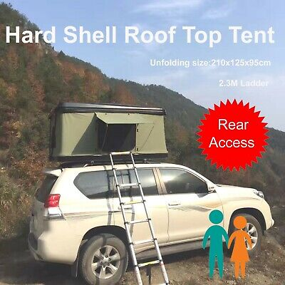 Hard Black Shell Aerodynamic Roof Top Tent Camping Rooftop Trailer 1.2x2.1M