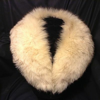 """Vtg  Genuine FOX FUR COLLAR Soft & Supple 35x4"""" for Coat or Sweater Tapered"""