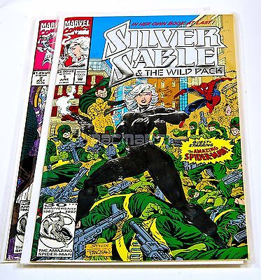 SILVER SABLE AND THE WILD PACK #1 (Silver Foil),2 June 1992, Marvel Comics NM/VF