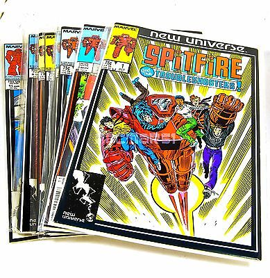 SPITFIRE AND THE TROUBLESHOOTERS #1,2,3,4,5,6,7,8,9,10,11 1986 NU, Marvel Comics