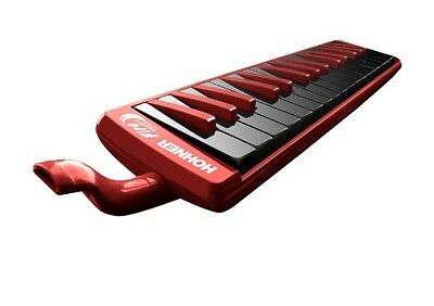 HOHNER Hohner 32F 32-Key Piano-Style Fire Melodica, Red