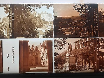 FRANCE 1900 44 PLAQUES VERRE STEREO VUES STEREOSCOPIQUES 45x107 POSITIVES
