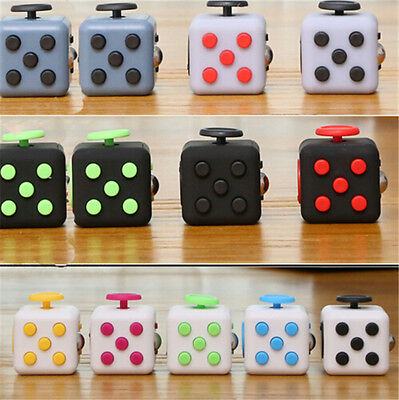 Funny Fidget Cube Toy Kids Adults Xmas Gift Anxiety Stress Relief USES
